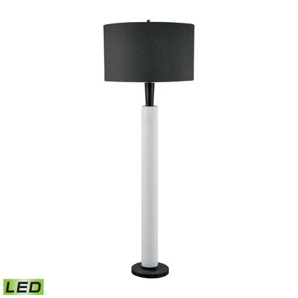 281-LED Modern Wood And White Bisque Ceramic LED Floor Lamp Modern Wood