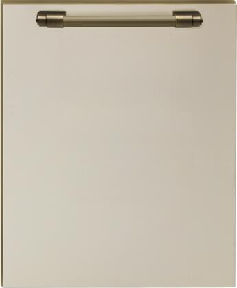 DWPCB 24 inch  Dishwasher Door Panel with Bronze Handle  in Cream