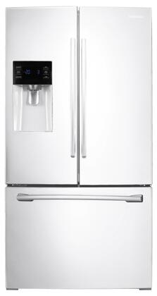 "RF263BEAEWW 36"" French Door Refrigerator with 25 Cu. Ft. Capacity  10 lbs. Daily Ice Production  Twin Cooling Plus  External Ice/Water Dispenser  Door Alarm"
