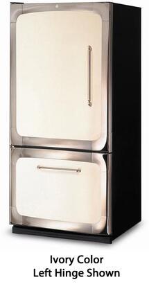 "3015-00L-BLK 30"" Freestanding 18.5 cu. ft. Capacity Bottom Freezer Refrigerator  Digital Temperature Control  Auto Defrost  Glass Shelves and Left Hinge Door"
