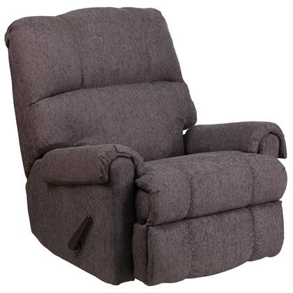 WM-8700-543-GG Contemporary Couger Gray Chenille Rocker