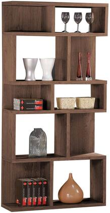 Kasey Collection 92162 35 inch  Bookcase with 10 Open Cubbies and Paper Veneer Materials in Dark Oak