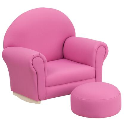 SF-03-OTTO-HP-GG Kids Hot Pink Fabric Rocker Chair and