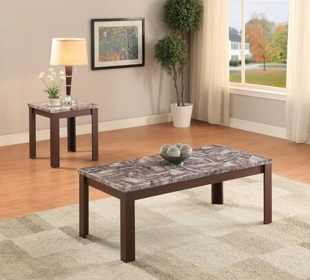 Arabia Collection 82136 2 PC Living Room Table Set with 48