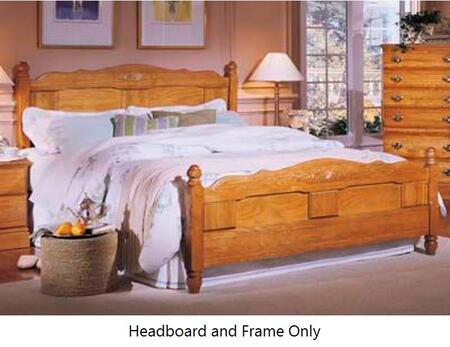 Carolina Oak 237860-983000-79091 70 inch  King Sized Bed with Metal Frame and Panel Headboard in Golden