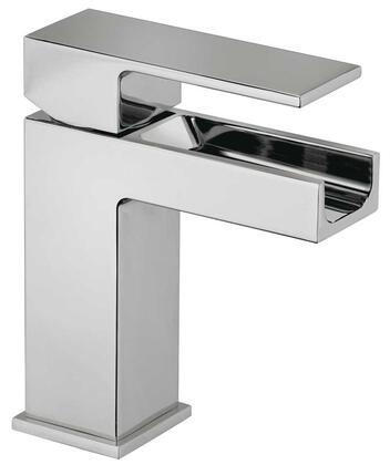 12211WFS-85 Single Blade Handle Lavatory Faucet With Waterfall Spout Brushed Chrome