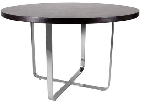 20901-04-MO Artesia 48 Inch Round Dining Table With Mocca on Oak Top on Satin Nickel