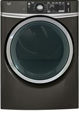 GE GFD48ESPKDG 28 Electric Dryer with 8.3 Cu. Ft. Capacity, 3 Dry Cycles, 5 Temperature Settings, Diamond Grey,