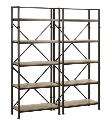 Durham LB-DUR-K-BS72X2 Bookcase Wall Set with Two 72