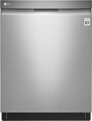 LDP6797ST Dishwasher Top Control With Pocket Handle Quadwash Glide Rail Stainless Interior Easyrack Plus 3rd Rack 44db in Stainless 735415