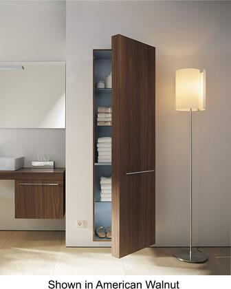 Fogo FO9547R6565 69 inch  Tall Cabinet with 3 Glass Shelves  1 Wooden Shelf  and Shelves Behind the Door with Right Hinge in Bleached