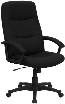 BT-134A-BK-GG High Back Black Fabric Executive Swivel Office
