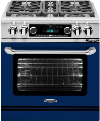 CSB304UN 30 inch  Connoisseurian Series Natural Gas Dual Fuel Range with 4 Sealed Burners  Moto-Rotis  Meat Probe and Flex-Roll Oven Racks  in Signal