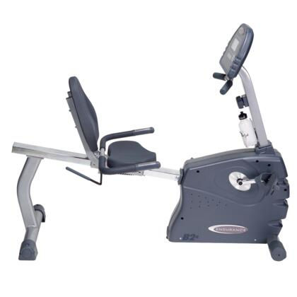 B2R Endurance Manual Recumbent Bike with Large LCD Display and Contact Heart Rate Monitor  Up to 15 Levels of