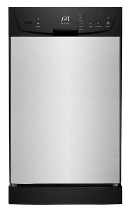 SD-9252SS Energy Star 18 inch  Built In Dishwasher with 8 Place Settings  6 Wash Programs  Two Racks  2 Spray Arms and Silverware Basket in Stainless