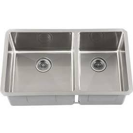 SCRA604016 Undermount Stainless Steel 30x17x10 0-Hole Double Bowl Kitchen
