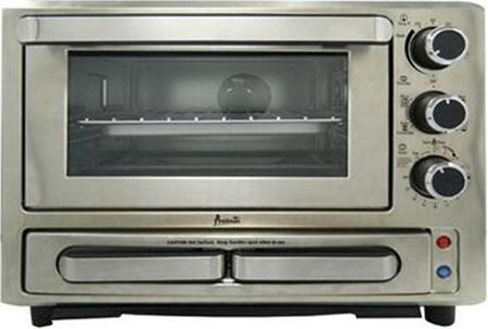 PPO84X3SIS 18 inch  Convection/Pizza Oven with .84 cu. ft. Capacity  400 Watts  1000 Watts  and Knob Controls  in Stainless