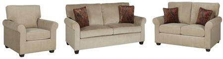 Emery U2011-SLC 3-Piece Living Room Set with Stationary Sofa  Loveseat and Chair in