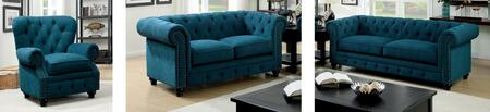 Stanford Collection CM6269TL-SLC 3-Piece Living Room Set with Stationary Sofa  Loveseat and Chair in Dark