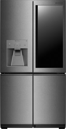 LUPXC2386N 36 inch  Counter-Depth French 4 Door Refrigerator with 22.8 cu. ft. Capacity  InstaView Door in Door  Auto Door Open  Surrounding Metal Interior  Wifi