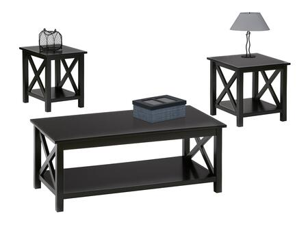 Seascape II P309-95 3-Piece Table Set with Lift-Top Cocktail Table  End Table and Chairside End Table in Textured