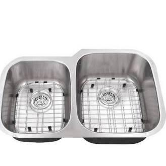 SC4060RV18 All-in-One Undermount Stainless Steel 30x19x9 0-Hole Double Bowl Kitchen