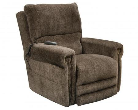Warner Collection 764862 1724-38 38 Power Lift Recliner with Power Headrest Extended Ottoman Dual Motor Design Decorative Nailhead Trim Comfort Coil