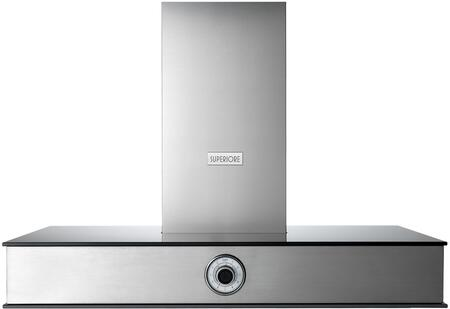 HN361ANS 36 inch  NEXT Series Wall Mount Chimney Style Hood with 600 CFM Blower  Stainless Steel Filters  Analog Control  and 2 Halogen Lights  in Stainless Steel