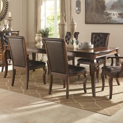 Williamsburg 106811 42 Traditional Dining Table  2 Side Chairs And 2 Arm Chairs In Roasted Chestnut