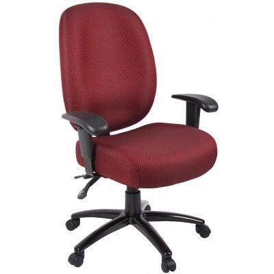 ADID34-SS-BU Aaria Dido Black Multi Function Task Chair with 4 Paddle Mechanism with Seat Slider in Burgundy