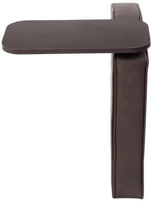 BRS2LT-BB  19 inch  Left Tablet Arm for BRS12 with Mahogany Finished Tablet in Bomber Brown LeatherPlus
