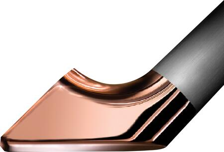 AFEBI42H2CP Stainless Steel Epicure Handles with Copper Trim (Handles