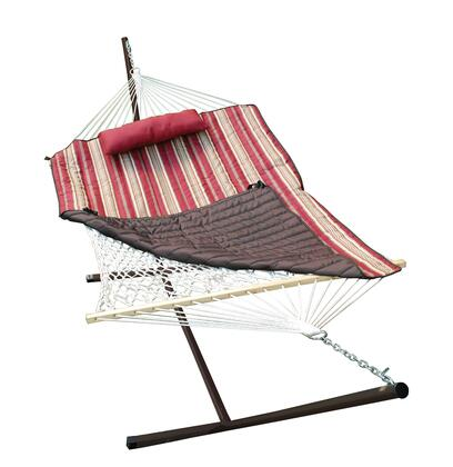 8911S 144 inch  Cotton Rope Hammock  Stand  Pad and Pillow Combination in