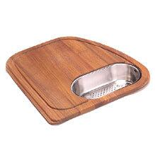 VN-45SP Solid Wood Cutting Board With Stainless Steel