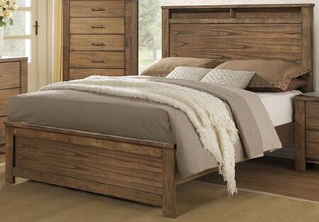Brayden B104-36-78 Queen Bed with Headboard  Footboard and Side Rails in Satin