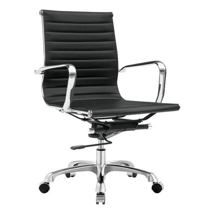 FMI1160-black Fine Mod Imports Modern Conference Office Chair Mid Back  in