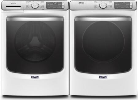 White Front Load Laundry Pair with MHW8630HW 27