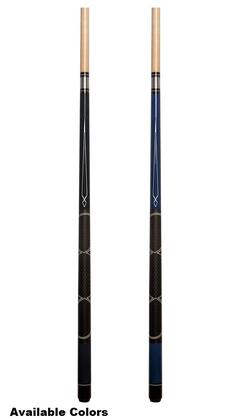 MFR101011 57 inch  Hardwood Contemporary Point Classic Billiard Cue with Aluminum Jointand Variegated Linen