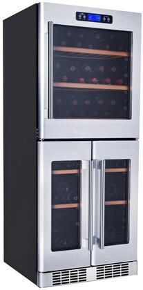 K280AVH Triple Zone Wine Cooler with 74 Bottle Capacity  Built-In Compressor  Touch-Key Control Panel  Stainless Steel Handle  Cool LED Lighting  Fan Cooling