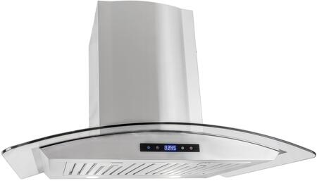 COS-668AS750 30 inch  Wall Mount Range Hood with 760 CFM  3 Speed Push Button Control  2 LED Lights and Dishwasher Safe Stainless Steel Baffle Filter  in Stainless