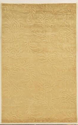 VILVT865000450203 Villa Travina VT8650-2' x 3' Hand-Loomed 100% Viscose Rug in Light Gold  Rectangle