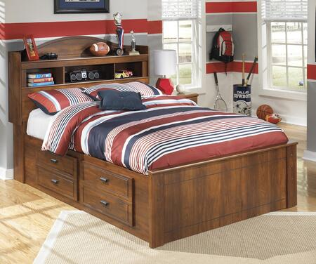 B228506584B10012 Barchan Collection Full Size Bookcase Bed with Underbed Storage  Side Roller Glides for Smooth Operating Drawers and Versatile Captions