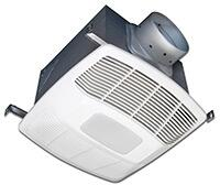 Air King White 120 CFM Single Speed, Motion and Humidity Sensing 0.3 Sone Ceiling Exhaust Bath Fan with LED Light, ENERG