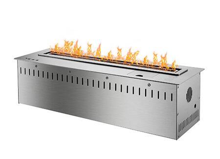 RCFB6000 24 inch  Smart Burner Collection Bio Ethanol Fireplace Insert with Remote Controlled Smart Burner  8 840 BTU   16 300 BTU  CO2 Sensor and Insulated Bottom