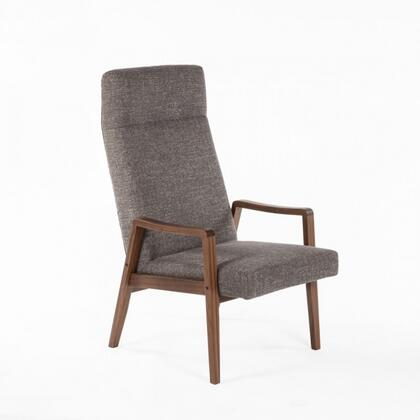 Flying FEC9639TWBLK Lounge Chair with Tapered Legs  Track Arms and Fabric Upholstery in Twill