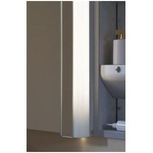 ML3.530BFSAMRDL BRT Single Light 30 Bathroom Bath Bar with White Shade and Night