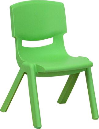 YU-YCX-003-GREEN-GG Green Plastic Stackable School Chair with 10.5'' Seat