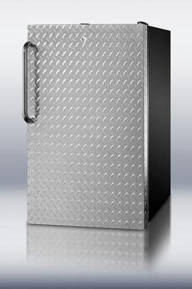 FS408BLDPLADA ADA compliant Built-In Undercounter Freezer With 2.8 Cu. Ft. Capacity  Manual Defrost  Diamond Plate Door  Adjustable Thermostat  Factory