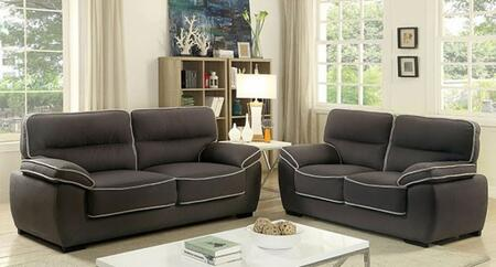 Elly Collection CM6504-SL 2-Piece Living Room Set with Stationary Sofa and Loveseat in
