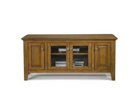 104055 55 inch  Wide Entertainment Console with 4 Cabinet Doors in Oak